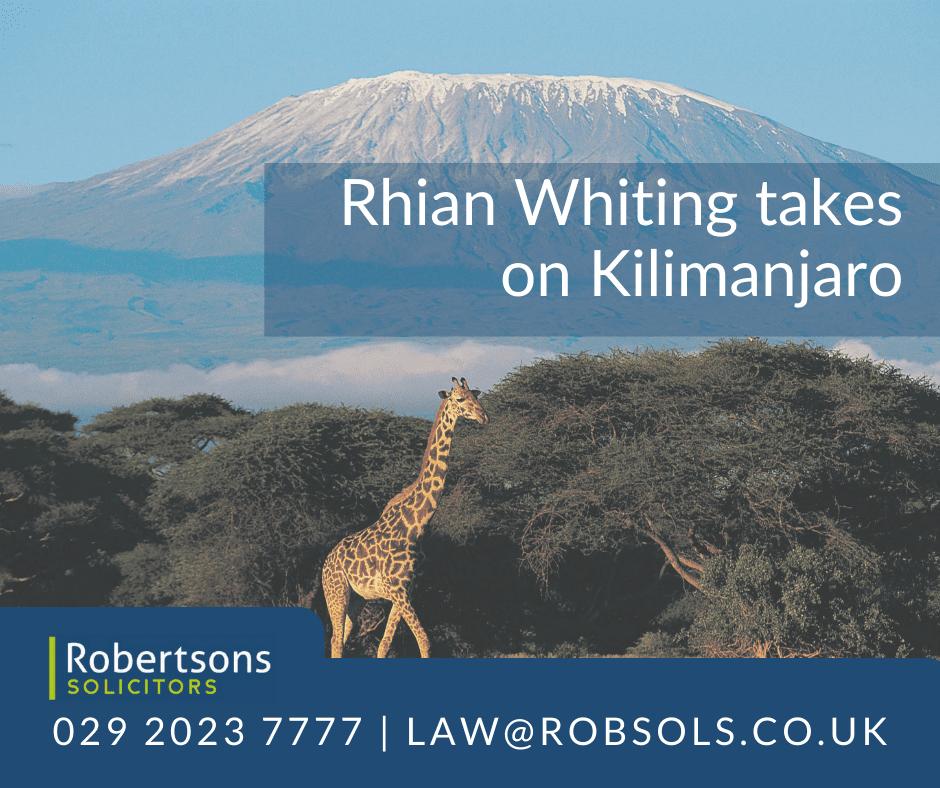 Robertsons' Rhian Whiting is to take on Kilimanjaro!