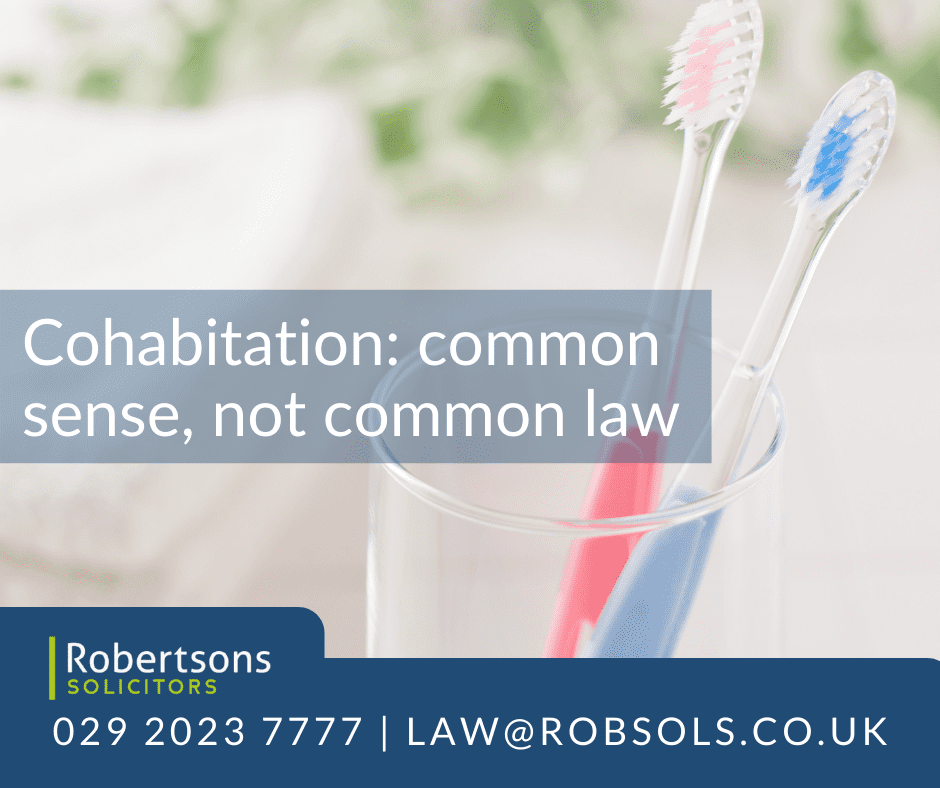 Cohabitation: common sense, not common law