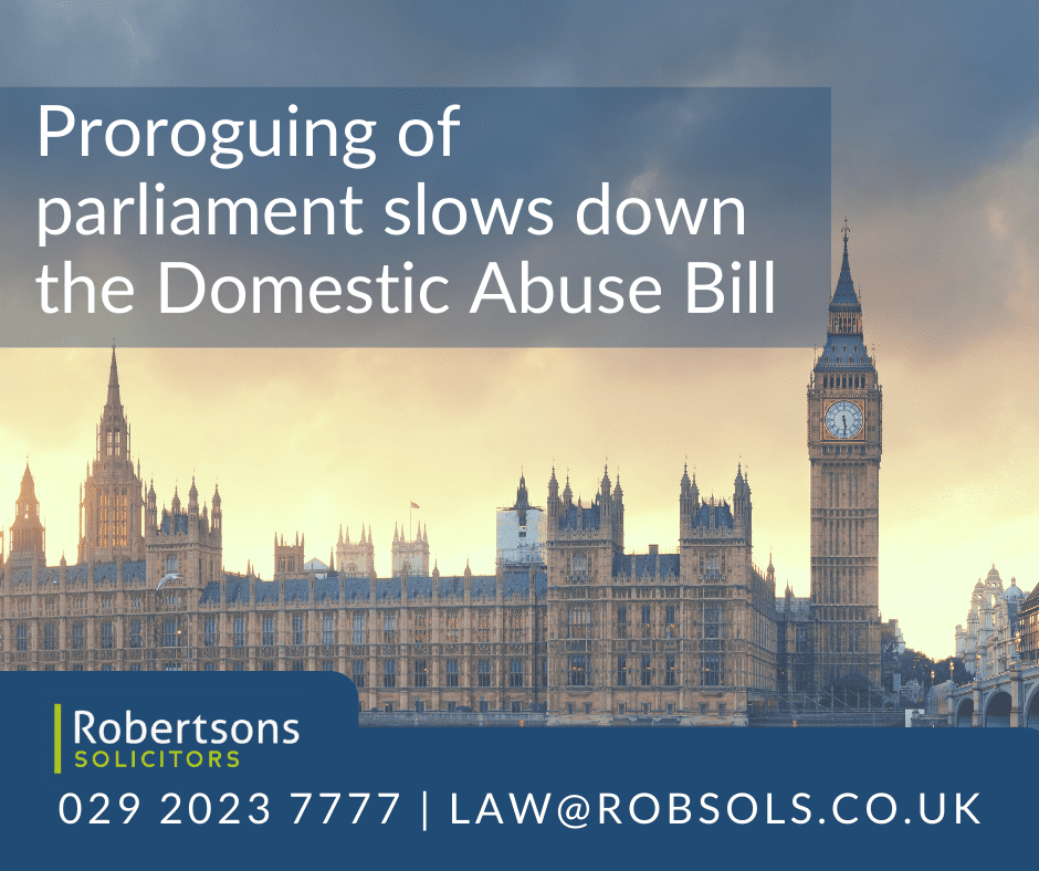 Proroguing of parliament slows down the Domestic Abuse Bill