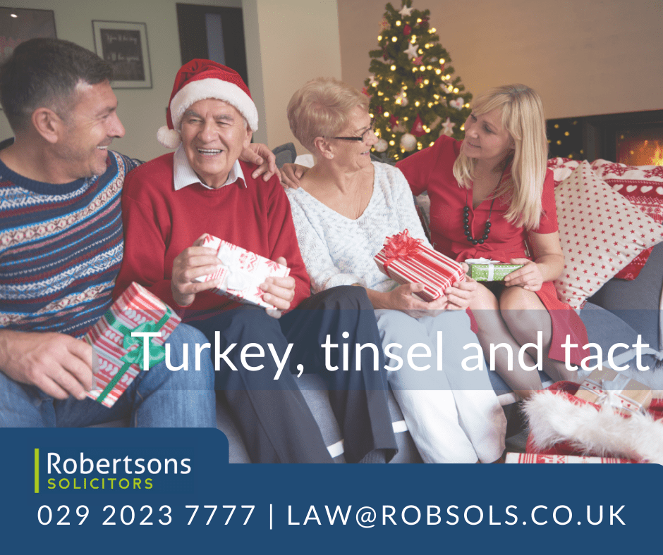 Christmas is coming. It's time to think tinsel, turkey and tact.