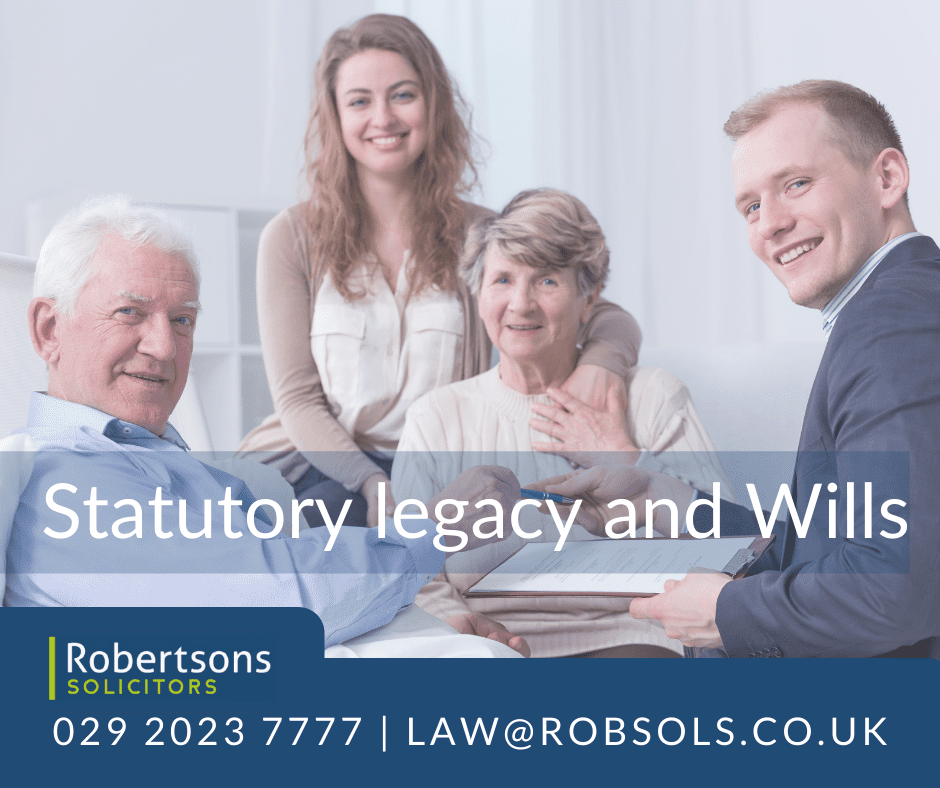 Statutory legacy and Wills