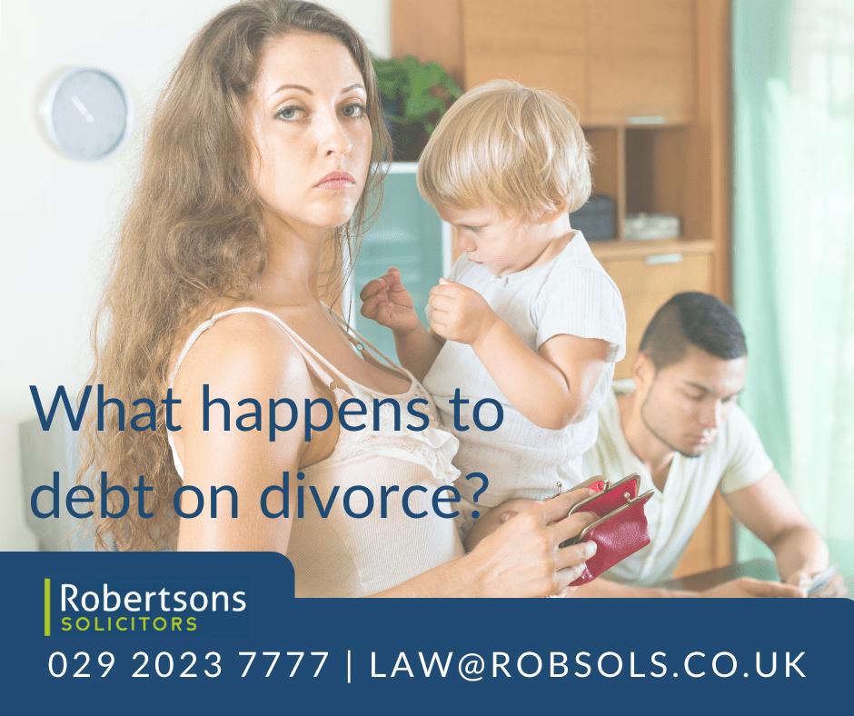 What happens to debt on divorce?