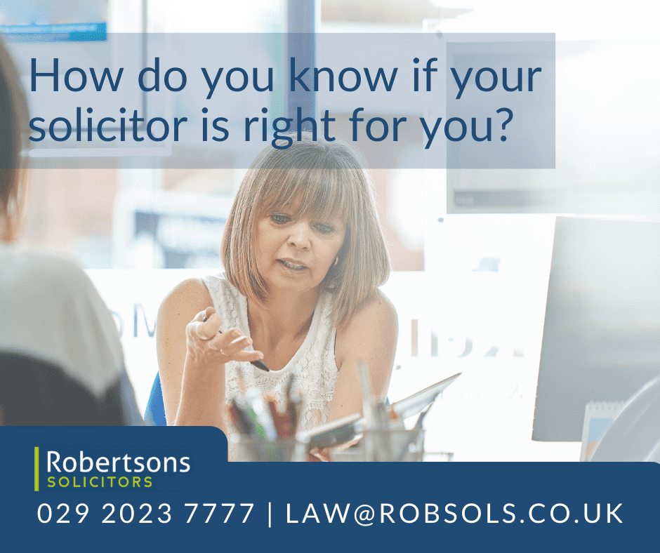 Solicitor talking to client