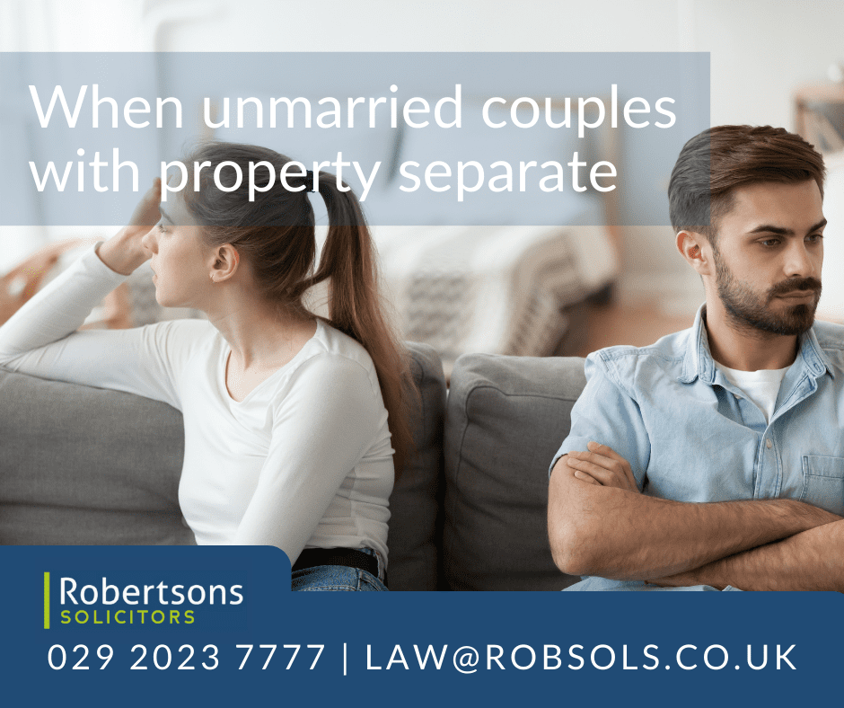 When unmarried couples separate, what rights do they have to a Property?