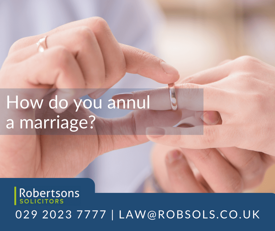 How do you annul a marriage?