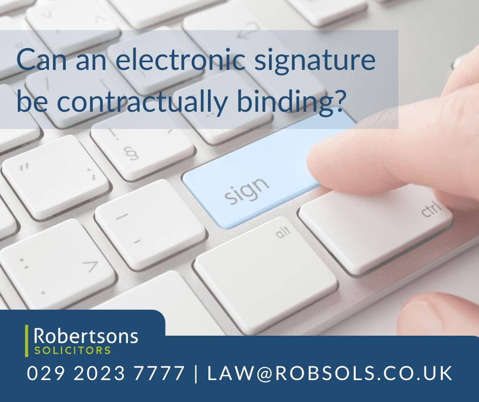 Can an electronic signature be contractually binding?